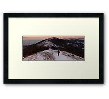 Walking the Malverns Ridge Framed Print