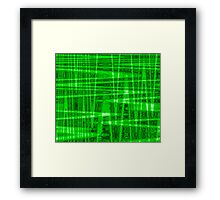 QUANTUM FIELDS ABSTRACT [1] GREEN [2] Framed Print