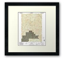 USGS Topo Map Oregon Groundhog Mountain 280110 1997 24000 Framed Print