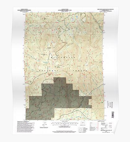 USGS Topo Map Oregon Groundhog Mountain 280110 1997 24000 Poster
