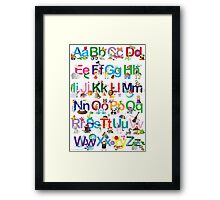 Alphabet for kids Framed Print