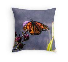 Painterly Flutterbye Throw Pillow