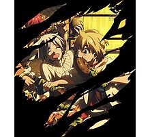 magi alibaba eating anime manga shirt Photographic Print