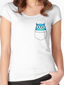 Pocket owl Women's Fitted Scoop T-Shirt