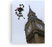 Mary Poppins  landing in London. Canvas Print