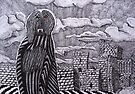 230 - THE MODDEY DHOO OF PEEL CASTLE - DAVE EDWARDS - INK - 2011 by BLYTHART