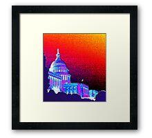 Capitol Sun Framed Print