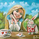 Alice in wonderland the white rabbit oil painting by gordonbruce