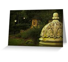 Central Park in the evening Greeting Card