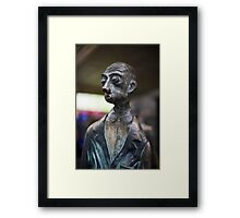 The Surprised Man on Bourke Street ,Melbourne Framed Print