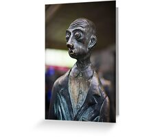 The Surprised Man on Bourke Street ,Melbourne Greeting Card