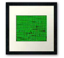 QUANTUM FIELDS ABSTRACT [1] GREEN [1] Framed Print