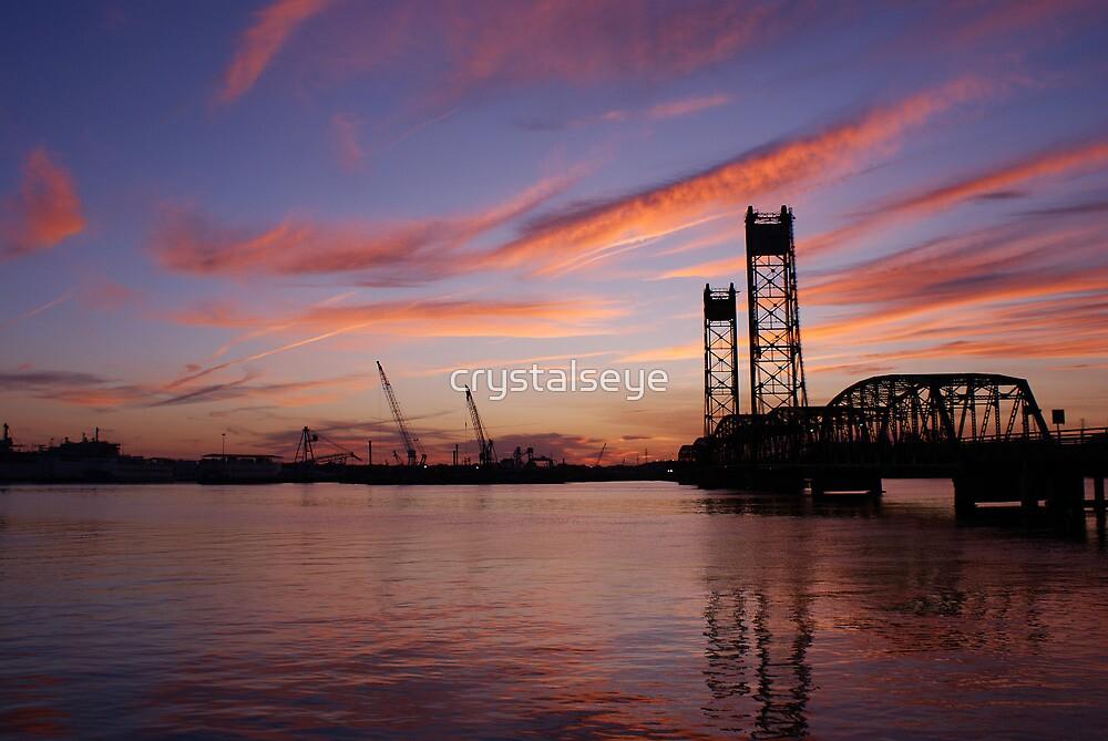 Jordan Bridge Sunset by crystalseye