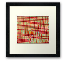 QUANTUM FIELDS ABSTRACT [1] RED [3] Framed Print