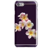 Portrait of Plumeria Blossoms with Frame iPhone Case/Skin