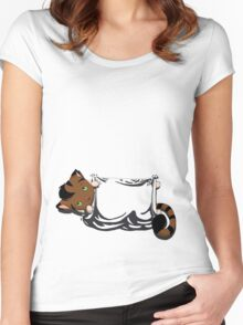 Kitty Pouch Women's Fitted Scoop T-Shirt