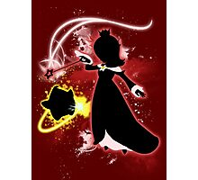 Super Smash Bros. Red Rosalina Silhouette Photographic Print
