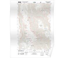 USGS Topo Map Oregon Wood Butte 20110824 TM Poster