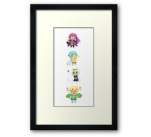 Cute Chibi Collection Framed Print
