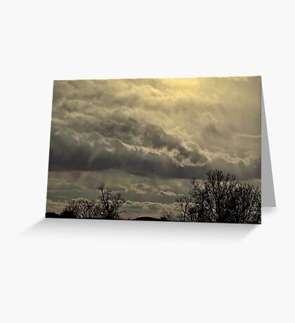 sun and clouds on a cold day Greeting Card