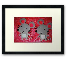 Two mice Framed Print
