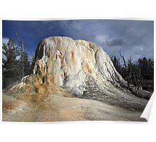 Elephant springs at Mammoth hot springs in Yellowstone Poster