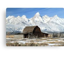 Famous barn in the Grand Tetons Canvas Print