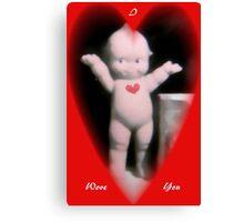 Cupie Valentine card, Canvas Print