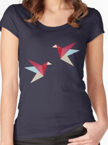 Correct Paper Cranes  Women's Fitted Scoop T-Shirt