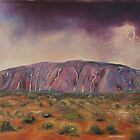 Ayers Rock - Central Australia by Cheryl White