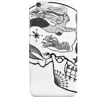 Aviation Mechanic - Day of the Dead Black and White iPhone Case/Skin