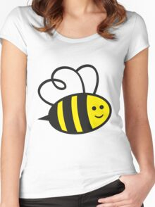 Cute Baby Bee Women's Fitted Scoop T-Shirt