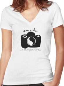 Photo Tee Women's Fitted V-Neck T-Shirt