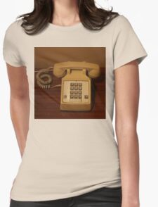 Vintage Retro Telephone Womens Fitted T-Shirt