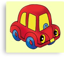 Red toy little car Canvas Print