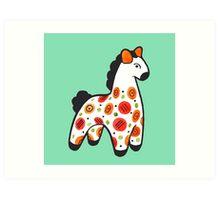 Dymkovo horse Art Print