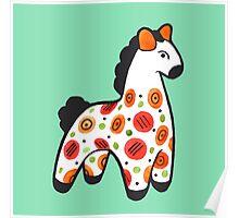 Dymkovo horse Poster