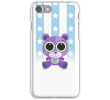 Teddy Bear - Star Eye Purple iPhone Case/Skin