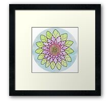 Flower mandala watercolor and pen Framed Print