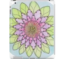 Flower mandala watercolor and pen iPad Case/Skin