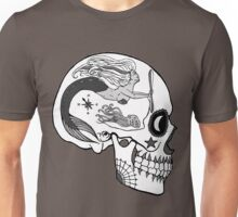 Aviation Mechanic - Day of the Dead Black and White Unisex T-Shirt