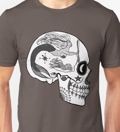 Navy AD - Day of the Dead Black and White Unisex T-Shirt