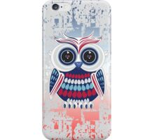 Patriotic Owl - Crackle iPhone Case/Skin