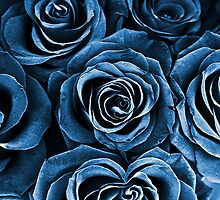 Rose Bouquet in Blue by Igor Shrayer