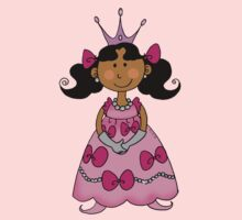 Little princess girl in pink dress One Piece - Short Sleeve