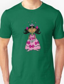 Little princess girl in pink dress T-Shirt