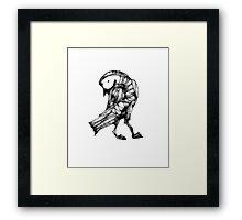 Scribbler Last One: A Bird Framed Print
