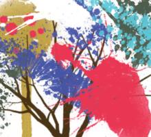 splatter tree Sticker