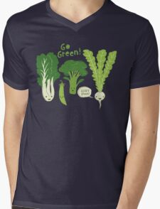 Go Green! (Leafy Green!) Mens V-Neck T-Shirt