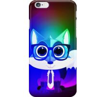 Fox Nerd - Retro Rainbow iPhone Case/Skin